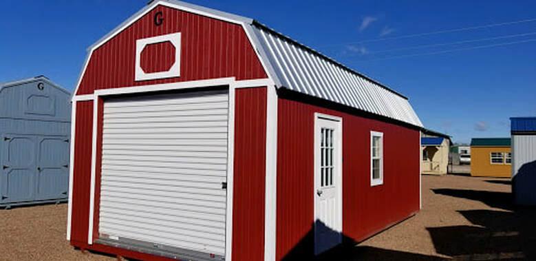 Show Low, Arizona Beautiful Barn Style Lofted Portable Garages