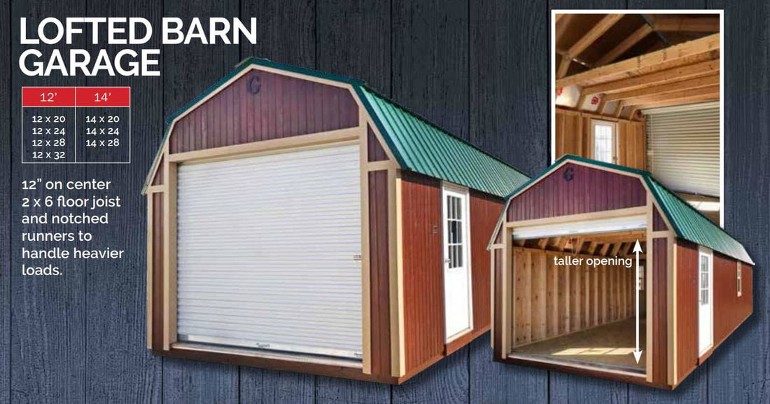 Featuring the Graceland Portable Building Lofted Barn Garage Show Low, Arizona