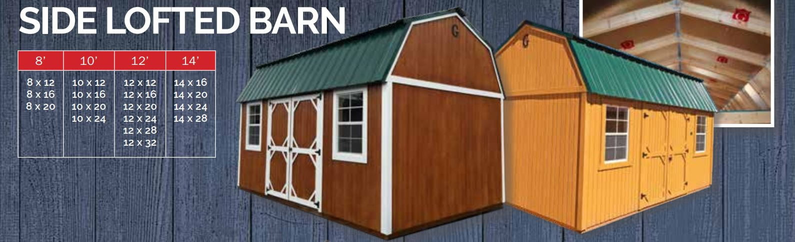 With Added More Features Than The Lofted Barn The Side Lofted Barn Seeks To Pleasure All Your Storage Needs