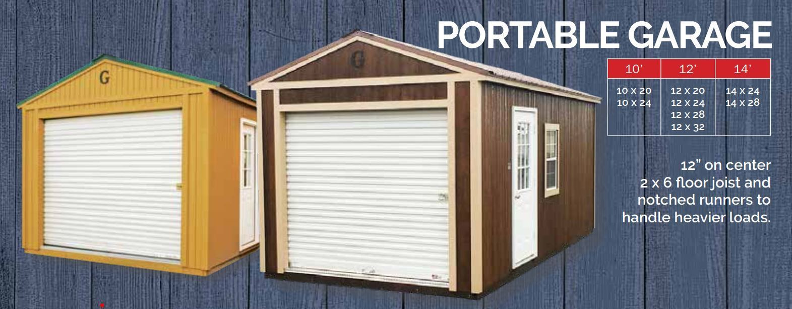 Graceland Portable Garages For Larger Storage and Utility