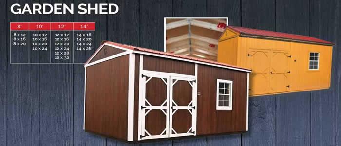Graceland portable building garden shed show low, Arizona