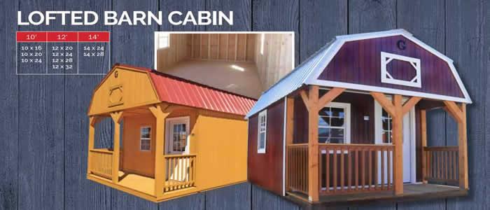 Graceland portable building lofted barn cabin show low, Arizona
