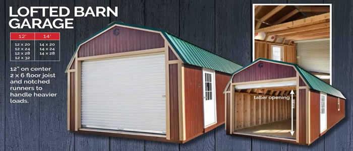 Graceland portable building lofted barn garage show low Arizona